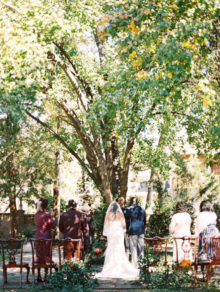 Outdoor Dallas TX small wedding